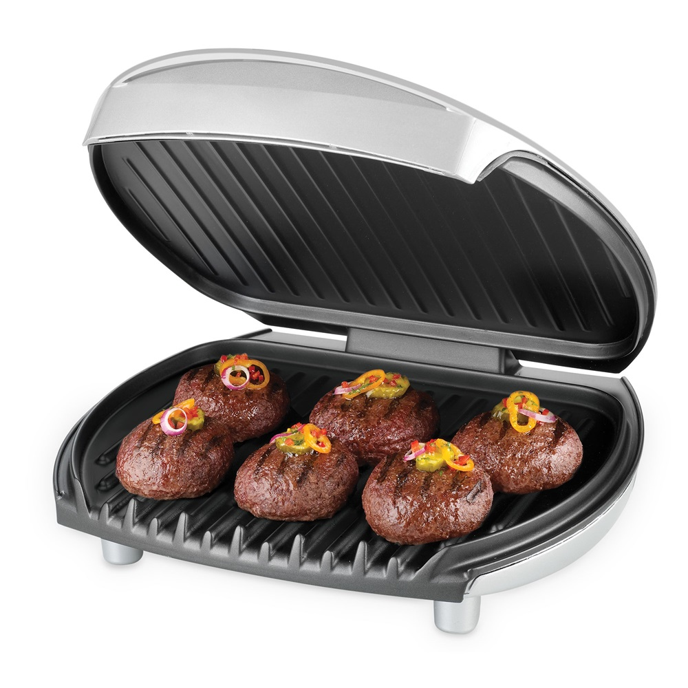 George foreman 6 serving 36 inch electric grill classic - George foreman replacement grill plates ...