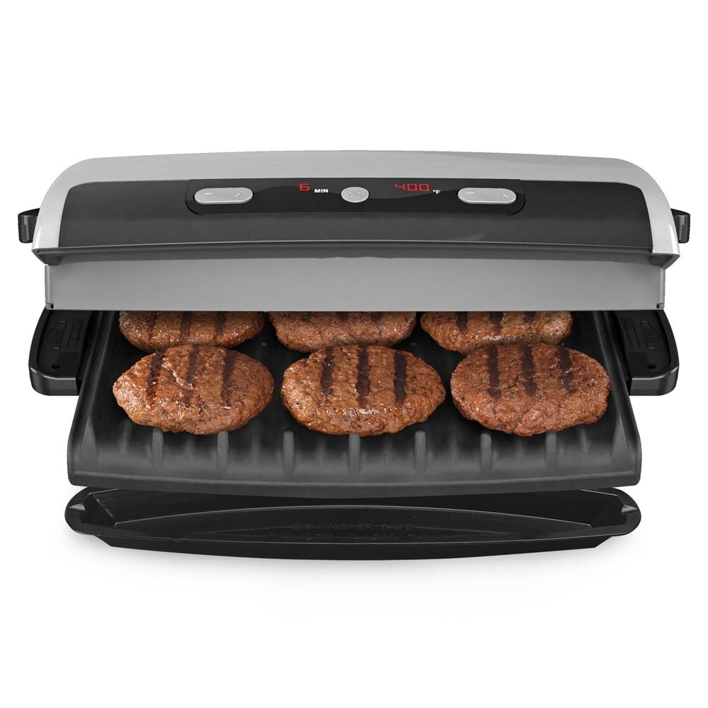 George foreman precision grill grp99 silver grill large - Largest george foreman grill with removable plates ...
