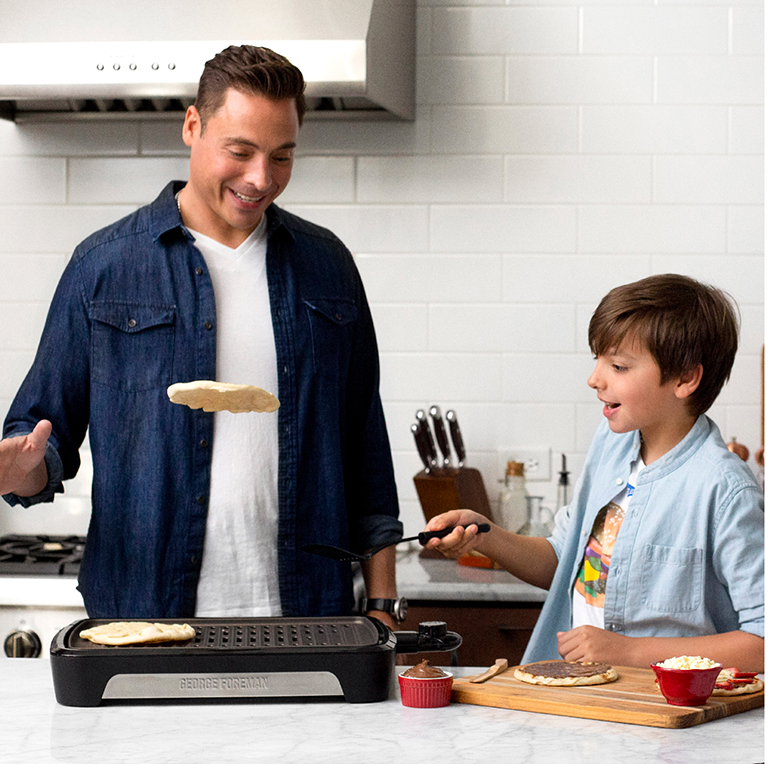 Jeff Mauro and the George Foreman Smokeless Grill