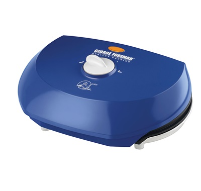 The Super Champ Vari-Temp Grill GR50VN: Enjoy indoor grilling perfection with this Medium blue grill from George Foreman