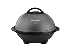 George Foreman Indoor/Outdoor Domed Grill GGR240L Silver Grill Jumbo Grill Electric Grilling