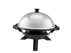 George Foreman Indoor/Outdoor Domed Grill GGR200RDDS Silver Grill Jumbo Grill Electric Grilling