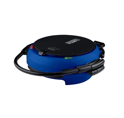 The 360 Grill GRP106QPGBLQ: Enjoy versatile cooking with the large blue grill with removable plates from George Foreman