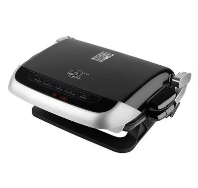 The Evolve Grill - Bake - Muffin GRP4EMB: Enjoy more versatile cooking with this medium black grill from George Foreman