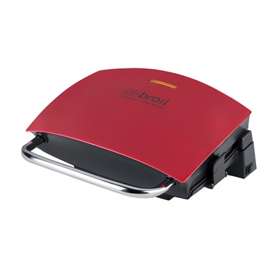 The G-Broil Grill GRP236CTR: Enjoy indoor grilling of thick cut meats with this medium red grill from George Foreman