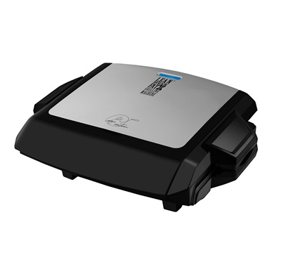 Power Press Grill and Griddle GRP101CTG: Enjoy cooking a variety of foods with this large silver grill and griddle by George Foreman